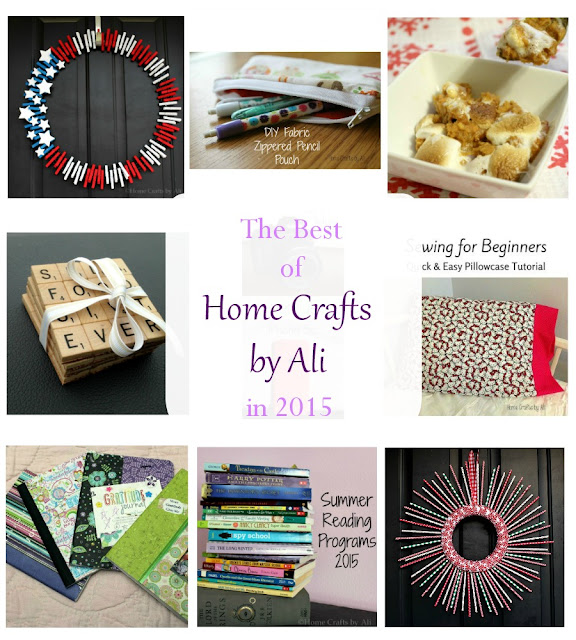 Home Crafts by Ali 2015 wreath sewing recipe craft DIY