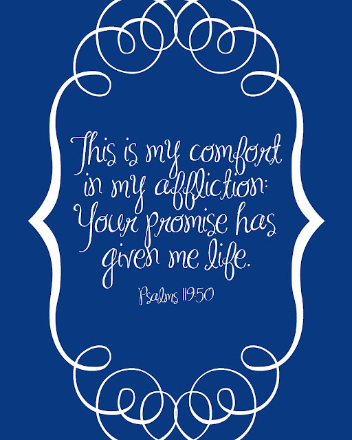 FREE Printable from PrintableWisdom Psalms 119:50