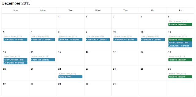 December 2015 Jewish Calendar, December 2015 Hebrew calendar, Jewish Calendar December 2015, Hebrew Calendar December 2015, Jewish Calendar 2015, Jewish Calendar December 2015 with Jewish Holidays, Hebrew Calendar 2015
