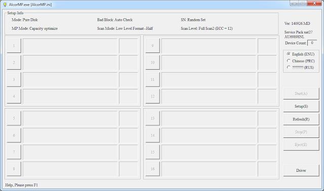 Alcor AU5019 format tool