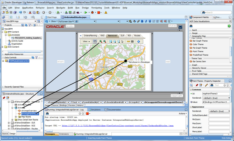 Oracle jdeveloper g release tutorials using logical models class