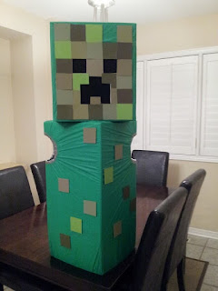 Creeper costume, Minecraft, Halloween, homemade costume