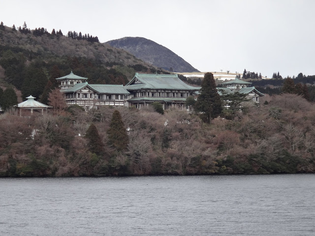 Hakone Detached Palace Garden can be seen while cruising along the Lake Ashinoko in Japan