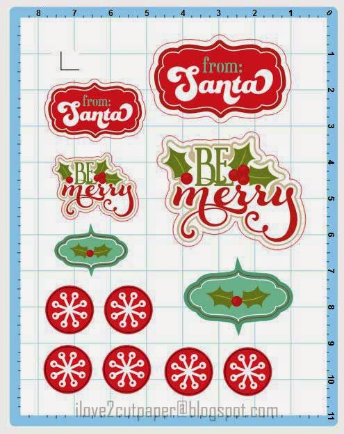 Christmas Stickers - Inspiration Vue electronic cutting machine