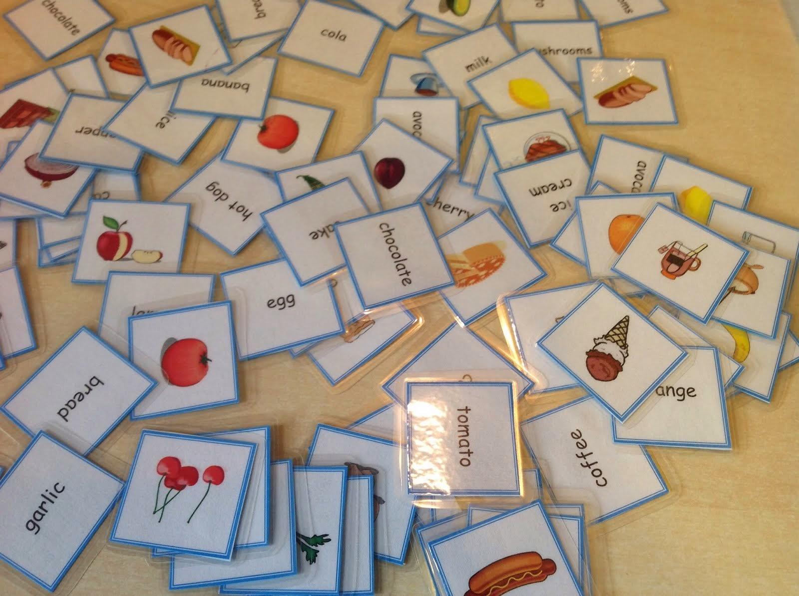 Memory kort til engelsk