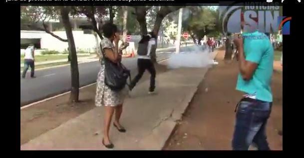 arenque una de las  causa de protesta en la universidad (UASD)