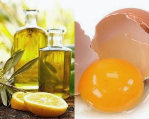 Đắp mặt nạ lòng trắng trứng gà, dầu oliu