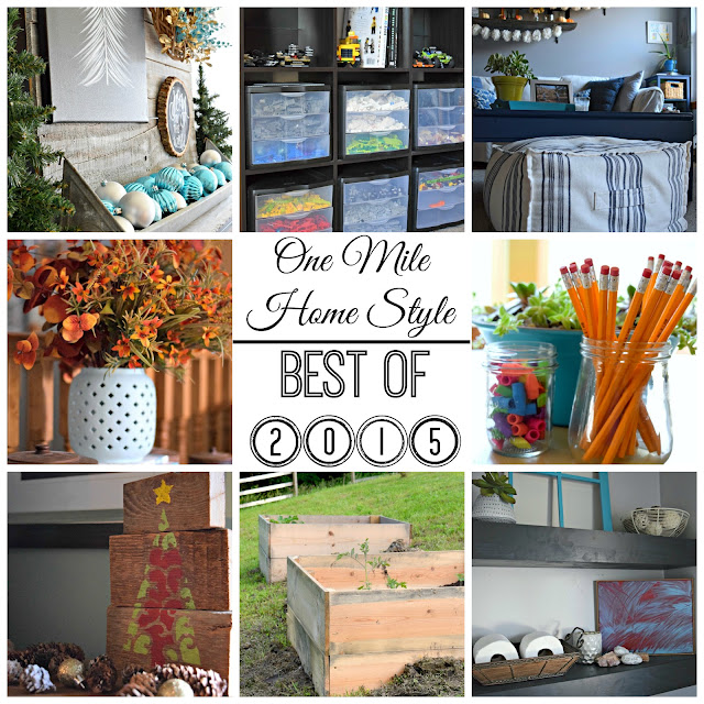 One Mile Home Style Best of 2015 - A round-up of the top posts of the year