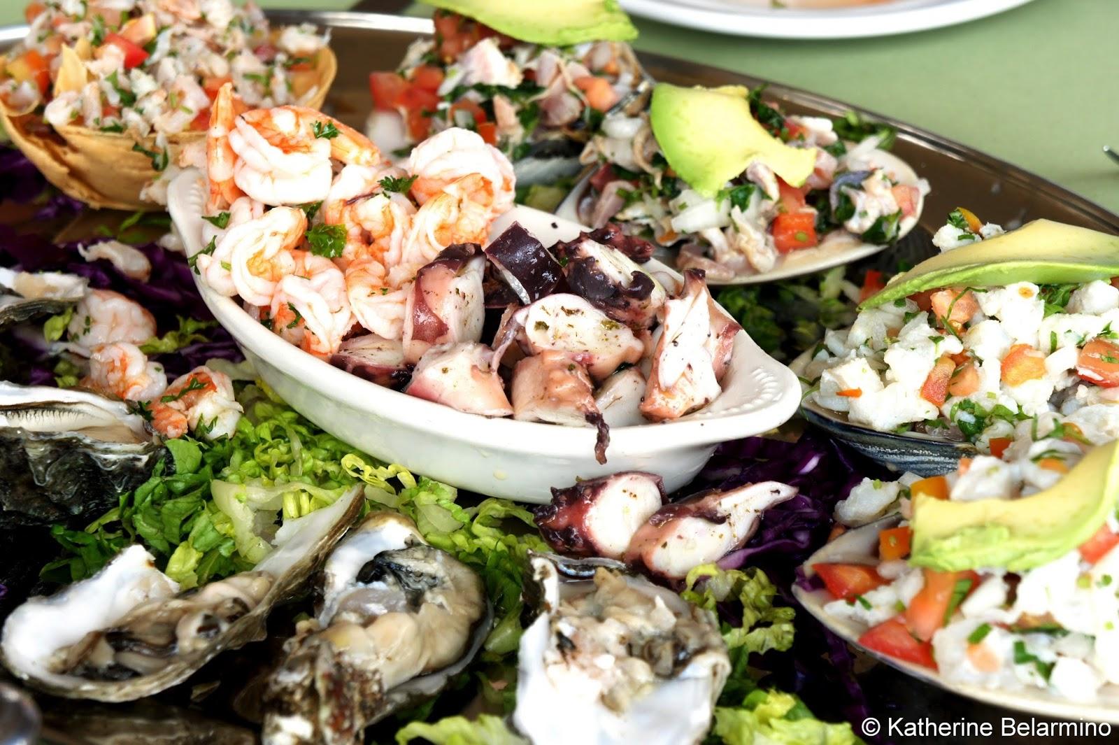 Popotla Park Restaurant Seafood Platter Baja California Mexico