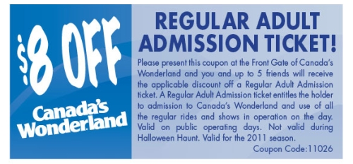 Canada's Wonderland Promo Codes December Welcome to Canada's Wonderland promo codes and coupon codes in December Find out the best Canada's Wonderland coupons and discount codes December for Canada's Wonderland online store.