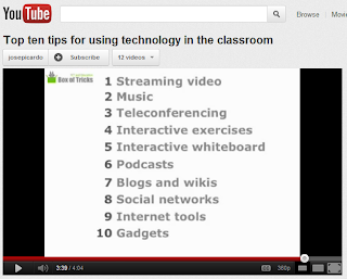 Screen shot image of video listing the top ten tips