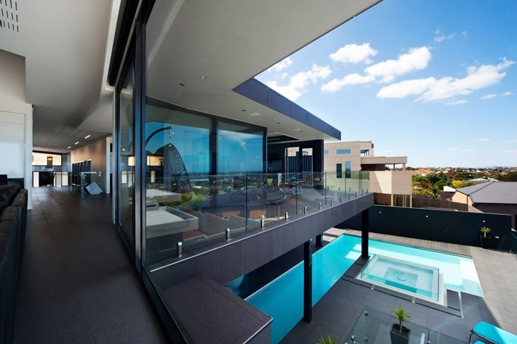 Balcony of Dream home in black and blue