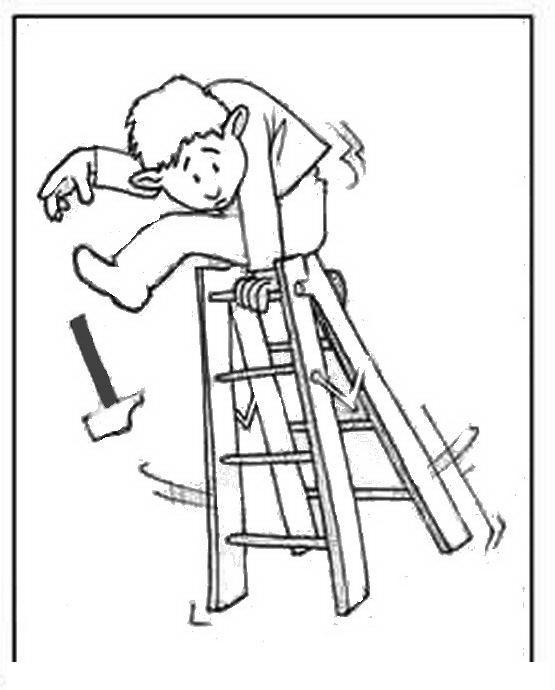 COLOREA TUS DIBUJOS: Persona cayendo de escalera para colorear