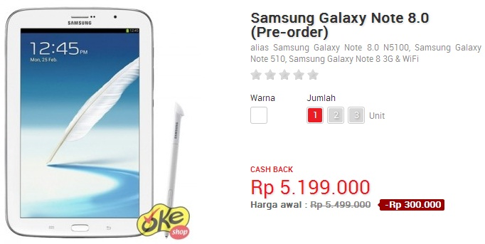 Harga Samsung Galaxy Note 8.0 N5100 Android Tablet  Buyers Guide