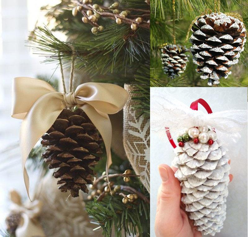 Inspiracion decoracion en navidad con pi as naturales mi - Decorar pinas naturales ...