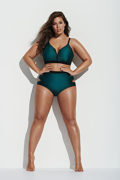 Plus-size model Ashley Graham in swimwear 2