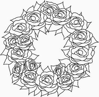 Dibujos de Coronas Navideñas para Colorear, parte 4