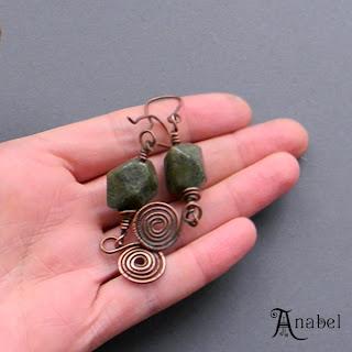 купить медные украшения с камнями яшма украина этника анабель