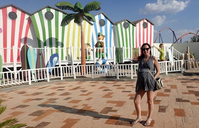 Visito el Parque Warner Beach embarazada