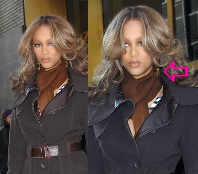 Tyra Banks wearing Jenny Dayco earrings