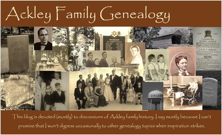 Ackley Family Genealogy