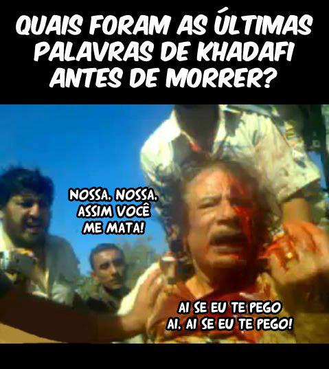 As ultimas palavras de khadafi
