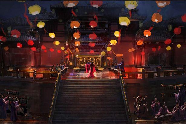ภาพงานเทศกาลโคมไฟ ที่อยู่ในภาพยนตร์เรื่องโจโฉ The Assassins
