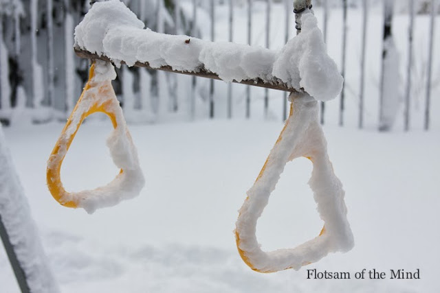 Swingset Trapeze in the Snow - Flotsam of the Mind