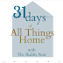31 Days of All Things Home:  My New House Half Bath Wallpaper Ideas~