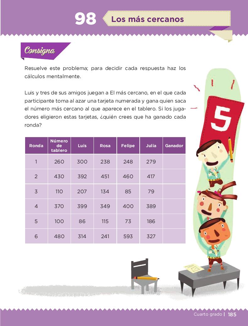 Los más cercanos - Desafios matemáticos 4to Bloque 5 2014-2015