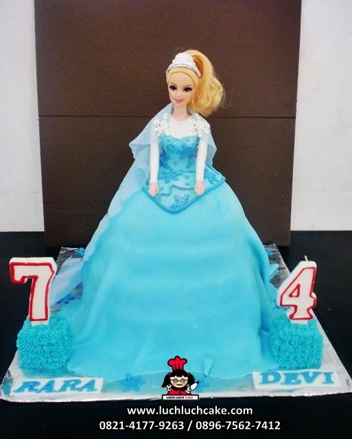 Kue Tart Barbie Princess Elsa Frozen Daerah Surabaya - Sidoarjo