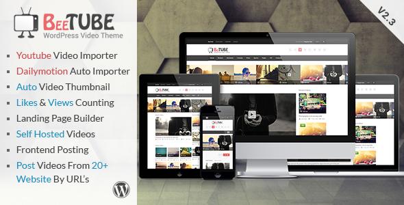 BeeTube Themeforest  Video WordPress Theme Download Free [Current Version 2.3.3]
