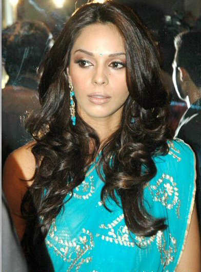 Malika Sheawat in Blue Saree Photoshoot images