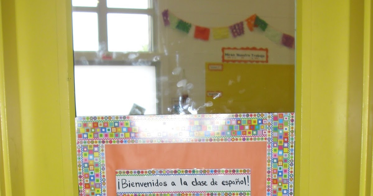Spanish 1 Classroom Decorations ~ Spanish simply classroom door decorations