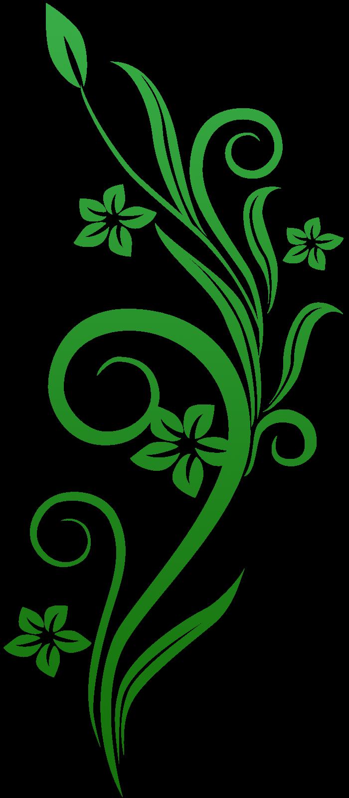 Vines Flowers Png Vines Swirl Green Flowers