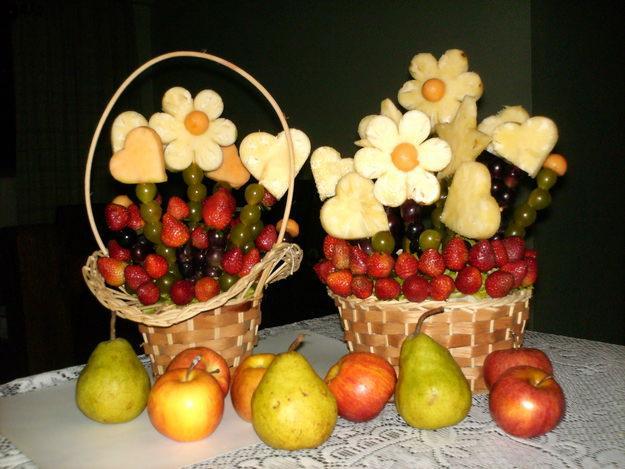 Centros de mesa frutales para bautizos parte 2 - Adornos de frutas para mesas ...