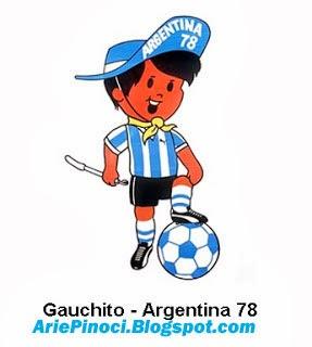Gauchito Maskot Piala Dunia 1978 Argentina