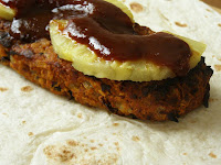 Spicy Beanburger and Pineapple Wrap