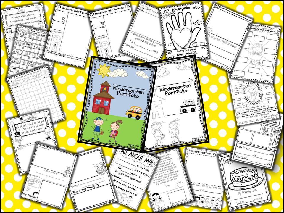 portfolios memory books for kindergarten pre k and first