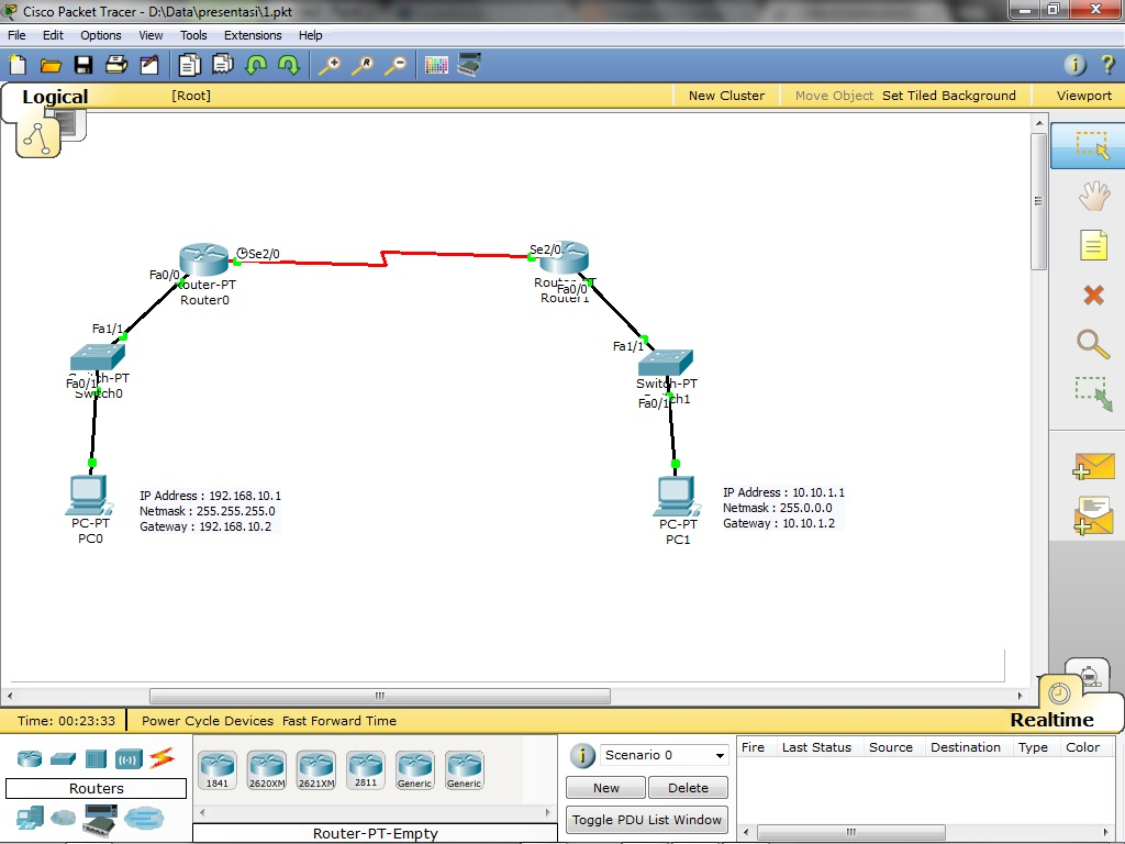 ip address packet tracer pdf