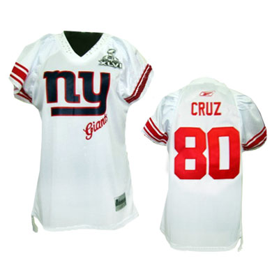 New York Giants 80 Victor Cruz White 2011 Womens Field Flirt Premier Jersey 8dc1cda23