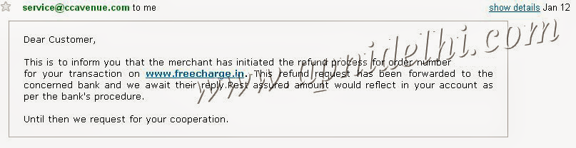 CCAvenue Email Refund Process