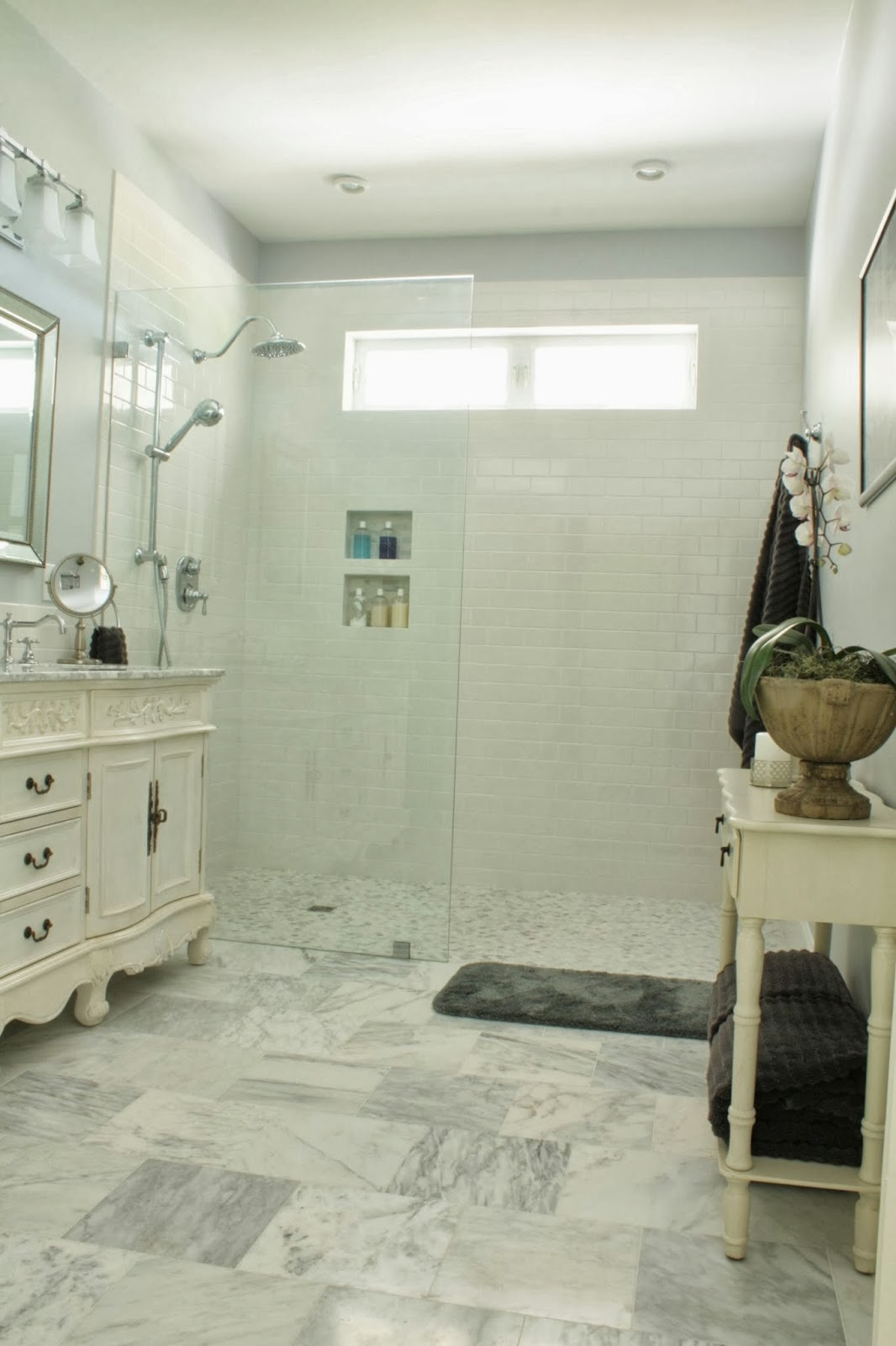 The comforts of home master bath reveal for Master bathroom no door