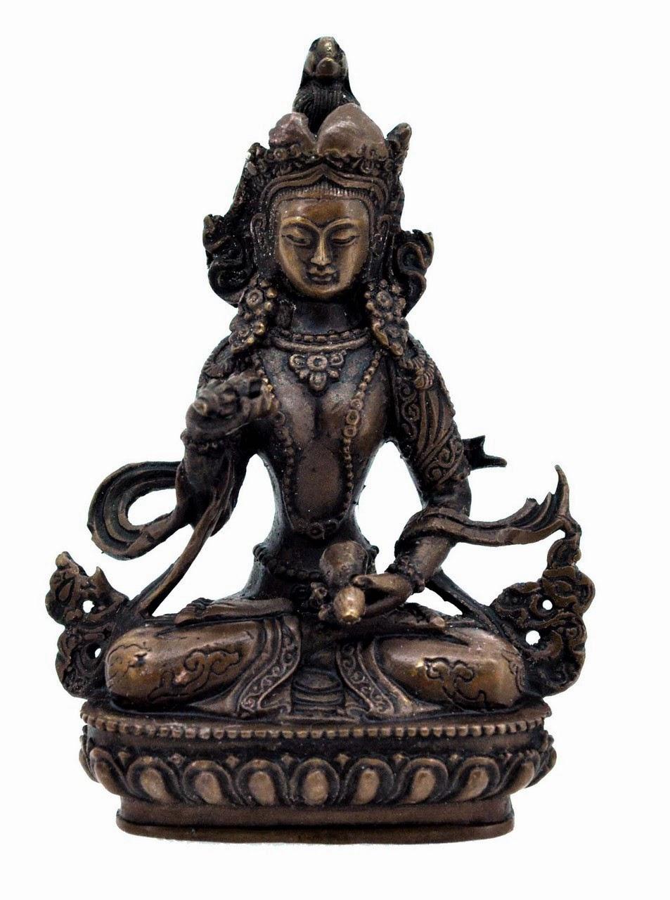 """Vajrasattva Statue, Bronze, 5"""""""