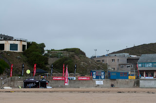 ETL pro longboard competition at Watergate Bay Cornwall