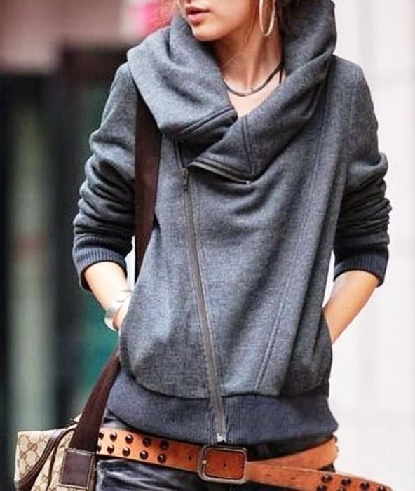 Adorable oversized fall fleece Zip-Up Hoodie