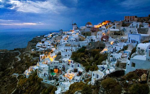 Oia Santorini en Italia (Hermoso Paisaje)