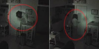 SERAM Seorang Lelaki Tak Sedar Ada Wanita Aneh Menumpang di Rumahnya VIDEO CCTV