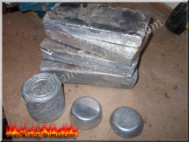 different aluminum ingots sizes