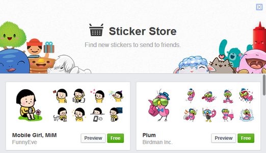 cute stickers for facebook chat tricks
